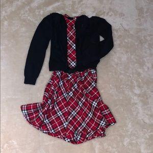 🎋3/$25🎋 Tartan Skirt & Tie